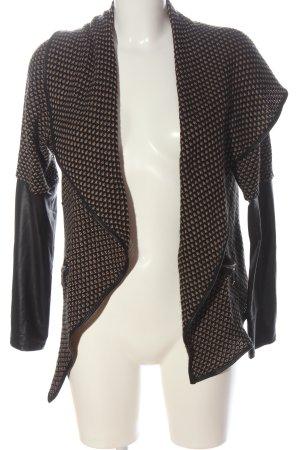 Hailys Cardigan in maglia nero-crema stile casual