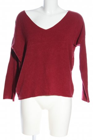 Hailys V-Neck Sweater red casual look