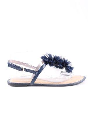 Hailys Zehentrenner-Sandalen blau Casual-Look