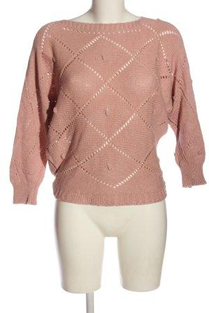 Hailys Warkoczowy sweter różowy Warkoczowy wzór Elegancki