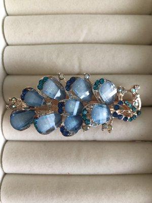 Diadema color oro-azul claro