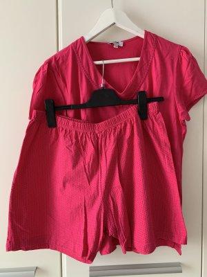 Hajo Pyjama pink-magenta cotton
