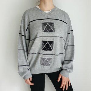 hajo XL grau Oversize Pullover Hoodie Pulli Sweater Strickjacke Top Oberteil True Vintage