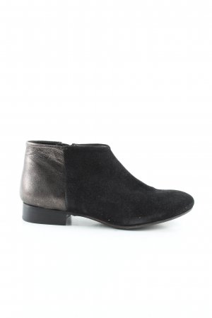 Hakei Booties schwarz-silberfarben Business-Look