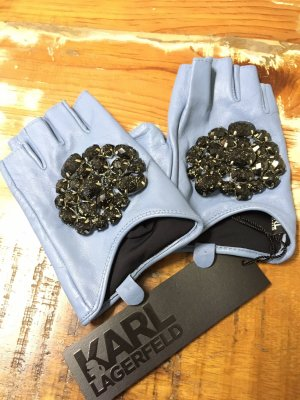 Karl Lagerfeld Leather Gloves azure