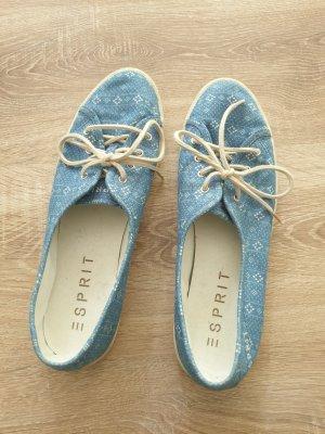 Esprit Sznurowane buty kremowy-niebieski