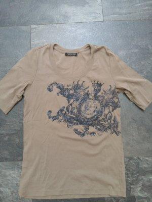 Margittes T-shirt imprimé gris brun-gris ardoise