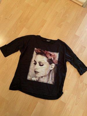 Halbarm Shirt schwarz Größe L