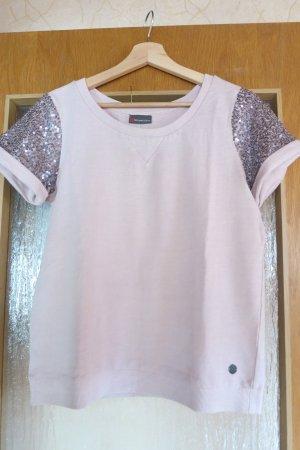 Halbarm-Sweatshirt mit Paillettenärmeln