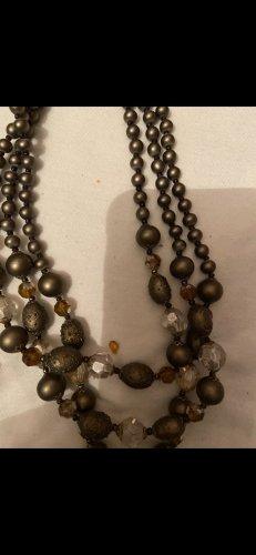 Halbedelsteine Halskette neuwertig vintage