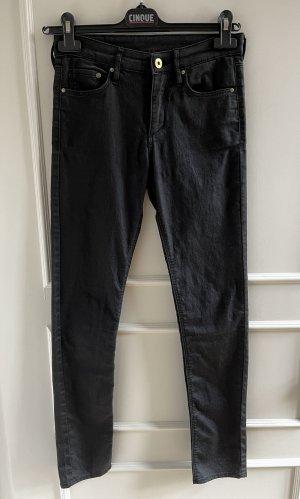 Halbgewachste Jeanshose von H&M in schwarz