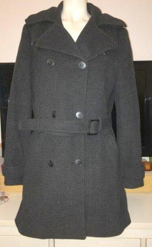 Abrigo corto negro-gris antracita