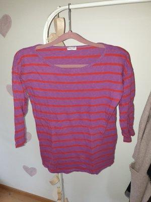 munich freedom Short Sleeve Sweater bright red-blue violet