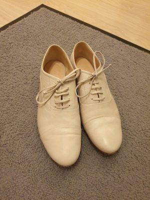 Zapatos brogue blanco puro-beige claro