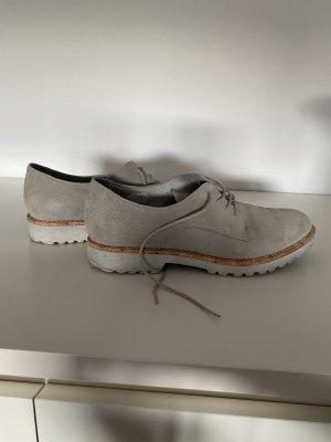 Tamaris Chaussures à lacets gris clair