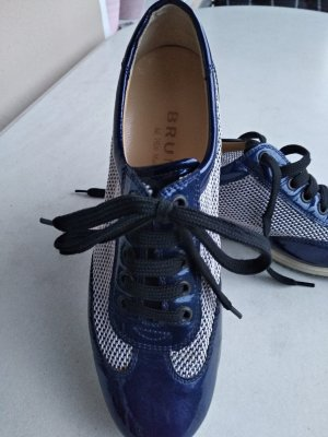 Brunate Sneaker stringata blu scuro Pelle