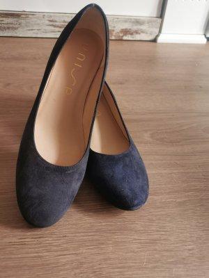 Unisa Chaussure à talons carrés bleu foncé