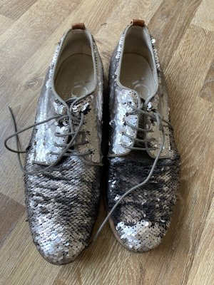 AGL Lace Shoes silver-colored