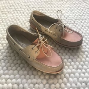 Timberland Lace Shoes pink-cream leather