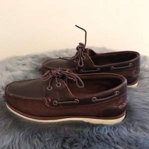 Timberland Lace Shoes bordeaux leather