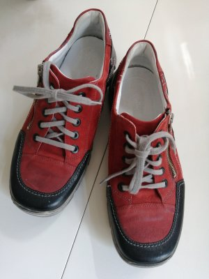 Lace Shoes black-red