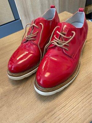 Rohde Zapatos brogue rojo oscuro-blanco