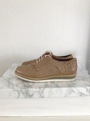Halbschuhe flache Schuhe beige camel Schnürer Schnürschuhe Sneaker Tamaris super bequem Größe 39