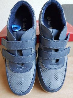 laura berg Basket velcro bleu azur-bleu acier