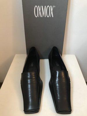 Halbschuhe Oxmox schwarzes Leder Gr. 37