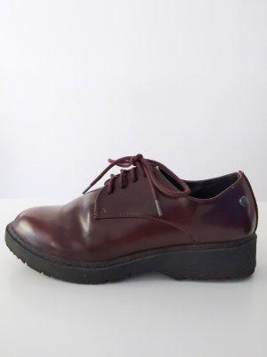 Halbschuhe / Sneaker • Bordeaux/ schwarz • Größe 36