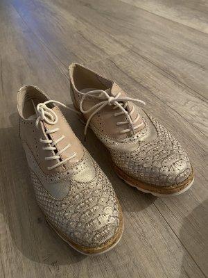 Halbschuhe sneaker weiß beige