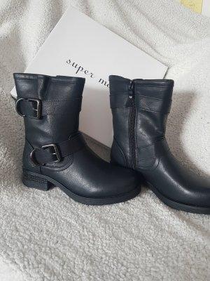 Super Mode Snow Boots black leather