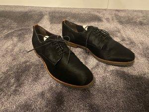 AGL Chaussures à lacets noir laine alpaga