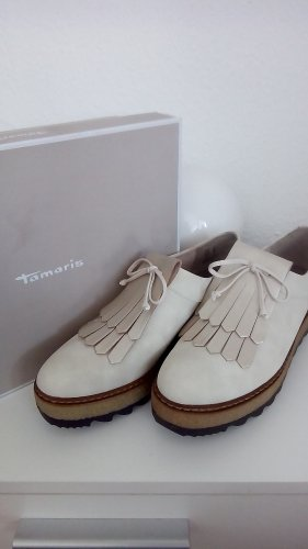 Tamaris Slip-on Shoes oatmeal polyvinyl chloride