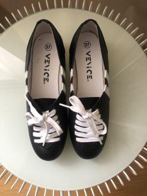 Venice Lace Shoes black-white