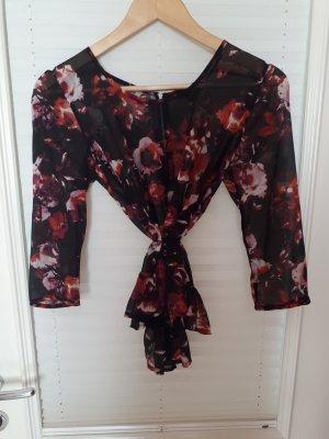 Halbtransparente Bluse mit Blumenmuster
