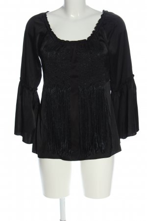 Hale Bob Long Sleeve Blouse black casual look