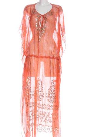 Hale Bob Maxi Dress light orange abstract pattern elegant