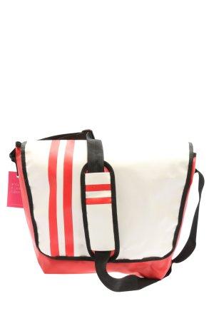 HALFAR Torba z klapą czerwony-biały Wzór w paski W stylu casual