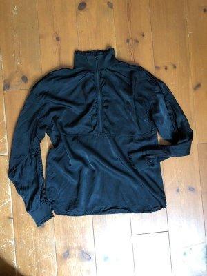 H&M Blouse met opstaande kraag zwart Polyester