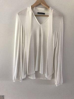 Hallhuber Camisa larga blanco puro