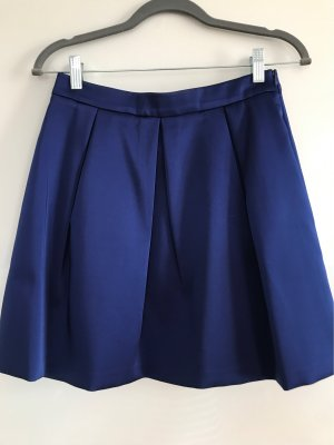 Hallhuber Plaid Skirt blue