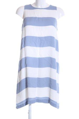 Hallhuber A-Linien Kleid weiß-blau Streifenmuster Casual-Look