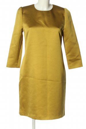 Hallhuber A-Linien Kleid goldfarben Glitzer-Optik
