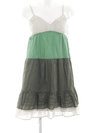Hallhuber A-Linien Kleid Streifenmuster Casual-Look