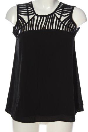 Hallhuber ärmellose Bluse schwarz Casual-Look
