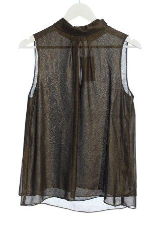 Hallhuber Sleeveless Blouse bronze-colored wet-look