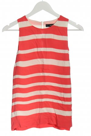 Hallhuber Blouse topje rood-wolwit gestreept patroon casual uitstraling