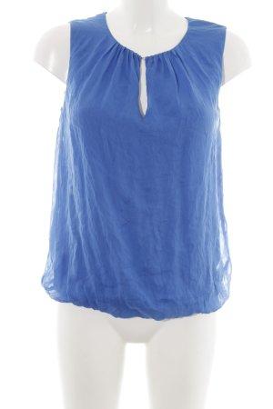 Hallhuber ärmellose Bluse blau Business-Look