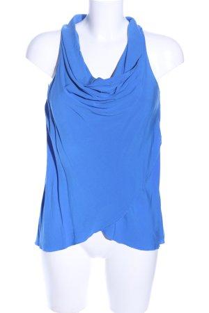 Hallhuber ärmellose Bluse blau Casual-Look
